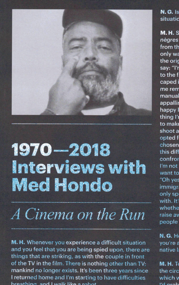 1970—2018 – Interviews with Med Hondo