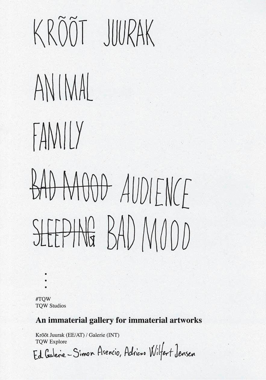 Animal - Family - Bad Mood Audience - Sleeping Bad Mood