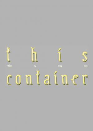 This Container Edition 07 - cover image