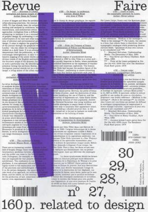 Revue Faire - Issues 27-30 - cover image