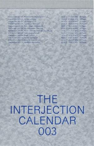 The Interjection Calendar 003 - cover image